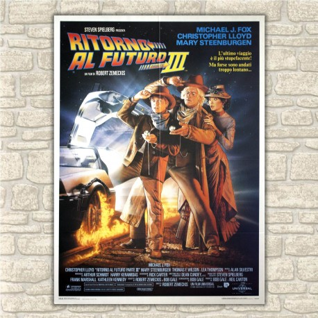 Original Poster Back To The Future III- 100x140 CM