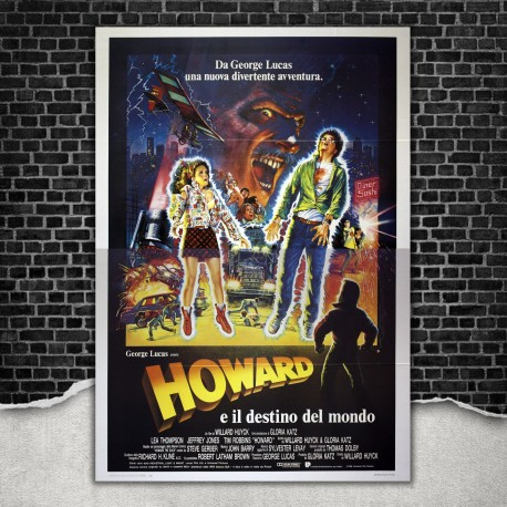 Original Poster Howard The Duck - Howard E Il Destino Del Mondo 140x200 CM