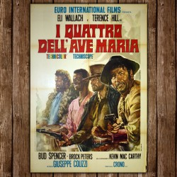 Original Poster I Quattro Dell'Ave Maria - Four Gunmen of Ave Maria - 100x140 CM
