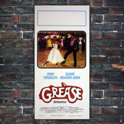 Original Movie Poster Grease 33x70 CM