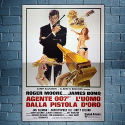 Original Poster 007 The Man With The Golden Gun - 140x200 CM - Roger Moore