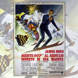Original Movie Posters 007 James Bond al servizio segreto di sua maestà - 100x140 CM