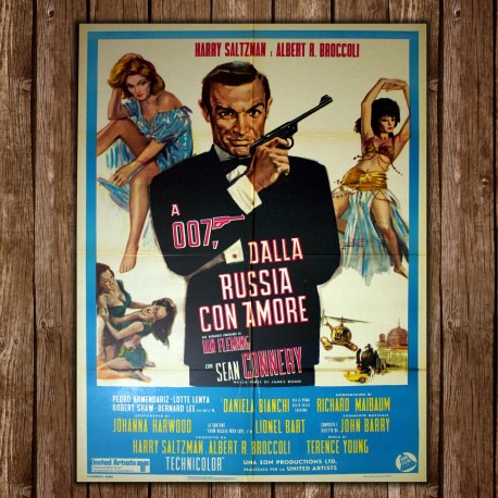 Original Movie Posters James Bond 007 Goldfinger - 100x140 CM