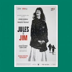 Movie Poster Jules & Jim  - Truffaut - 70x100 CM