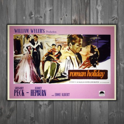Movie Posters Roman Holiday 100x70 CM