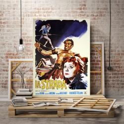 Poster La strada - Federico Fellini - Anthony Quinn-70x100