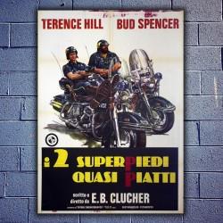 Manifesto Originale Io Sto Con Gli Ippopotami - 100x140 - Bud Spencer,Terence Hill