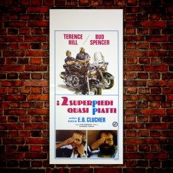 Locandina Originale I Due Super Piedi Quasi Piatti - 33x70 - Bud Spencer, Terence Hill
