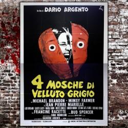 Manifesto Originale 4 Mosche Di Velluto Grigio - Dario Argento - 140x200 CM