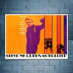 Film Poster Bullitt Steve McQueen 50x70 CM