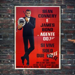 Manifesto Originale Agente 007 Si Vive Solo Due Volte 140x200 CM