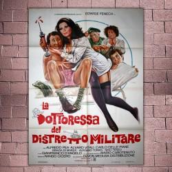 Manifesto Originale La Dottoressa Del Distretto Militare - 100x140 CM