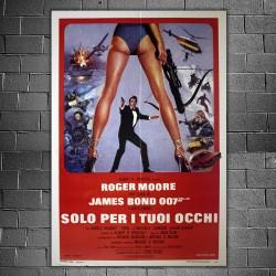 Manifesto Originale 007 Solo Per I Tuoi Occhi 100x140 CM