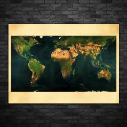 Poster Mappa Del Mondo Vintage 50x70 CM