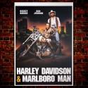 Poster Harley Davidson & Marlboro Man - 70x100 CM