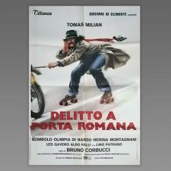 Manifesto 2F Delitto A Porta Romana - Tomas Milian - Bruno Corbucci - 1980