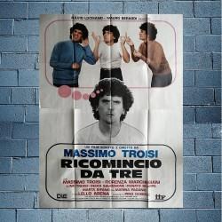 Manifesto Originale 4F Ricomincio Da Tre - Massimo Troisi - 1980