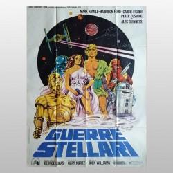 Manifesto 2F Originale Guerre Stellari Papuzza 1977 George Lucas