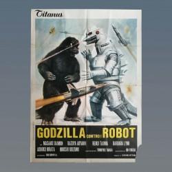 Manifesto Originale 2F Godzilla Contro i Mostri - 1974 - 100x140