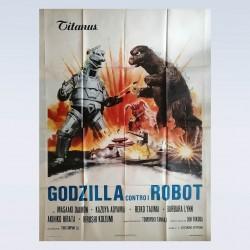 Manifesto Originale 4F Godzilla Contro I Robot 140X200 CM