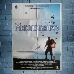 Manifesto 2F Originale Mediterraneo - Gabriele Salvatores - 1992 - 100x140 CM
