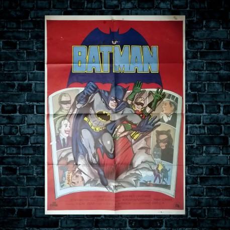 Poster Originale Cinematografico Batman Adam West Burt Ward - 70x100 CM
