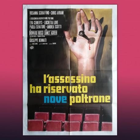 Manifesto Originale 2F L'assassino Ha Riservato Nove Poltrone 1974 - 100X140 CM