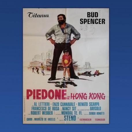 Manifesto Originale 2F Piedone A Hong Kong Bud Spencer 1975 - 100x140 CM