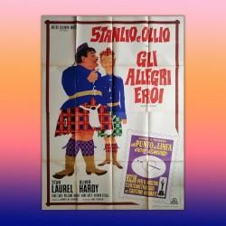 Manifesto Originale 4F Gli Allegri Eroi - Bonnie Scotland Stan Laurel Oliver Hardy