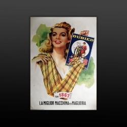 Poster Manifesto Pubblicitario Originale Macchina Da Cucire Dubied