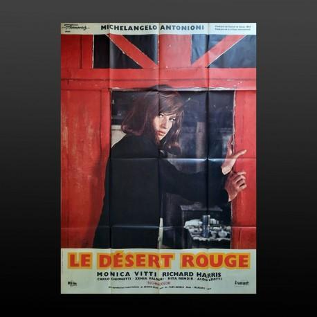 Manifesto Originale  Deserto Rosso Le Desert Rouge 1964 - 160X20 CM