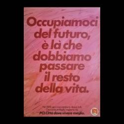 Poster Politico Originale PCI Città Dove Si Vivere Al Meglio 70x100 CM