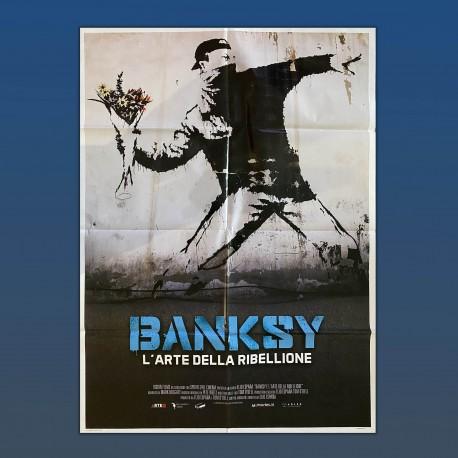 Manifesto Originale 2F Banksy L'Arte Della Ribellione 100x140 CM