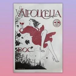 Poster Manifesto Originale Vino DOC Valpolicella Milo Manara 70X100 CM