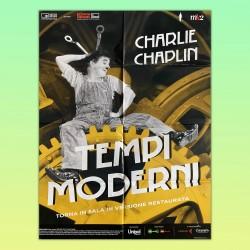 Manifesto Poster Tempi Moderni Charlie Chaplin Modern Times