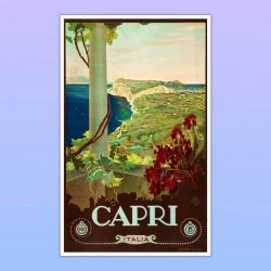Poster Italy Paesaggio Artistico Capri - Mare - 50X80 CM