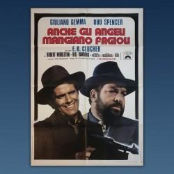 Manifesto 2F Anche Gli Angeli Mangiano Fagioli Bud Spencer Gemma 1973