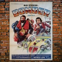 Poster Manifesto Bomber Bud Spencer Jerry Calà 1982 Michele Lupo