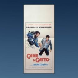 Locandina Originale Cane E Gatto Bud Spencer Tomas Milian 1982