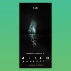 Locandina Originale Alien Covenant 33X70 CM 2017 Ridley Scott