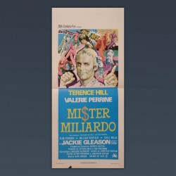 Poster Locandina Mister Miliardo Terence Hill 1977 33x70 CM